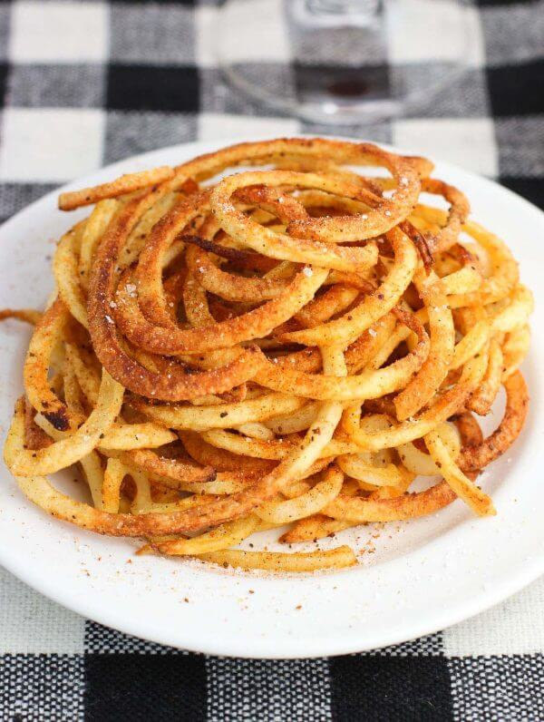 Baked Old Bay Curly Fries by My Sequined Life