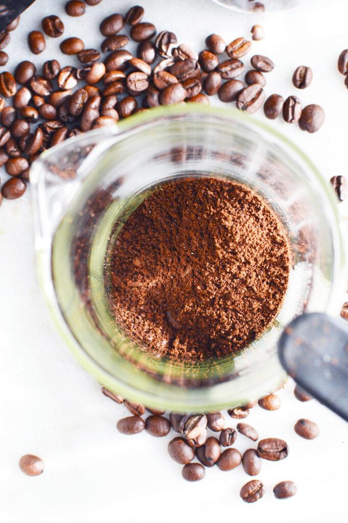 Coffee Grounds of Bulletproof Coffee