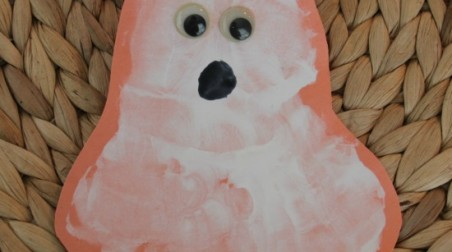 Halloween Handprint Ghost Craft