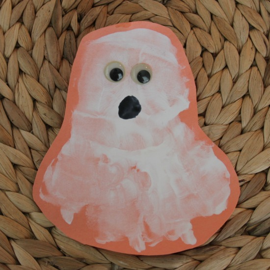 Ghost Handprint Craft for Kids