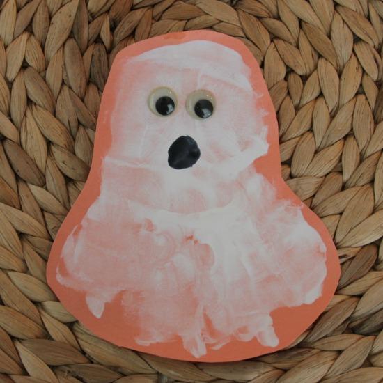 Ghost Handprint Craft for Kids