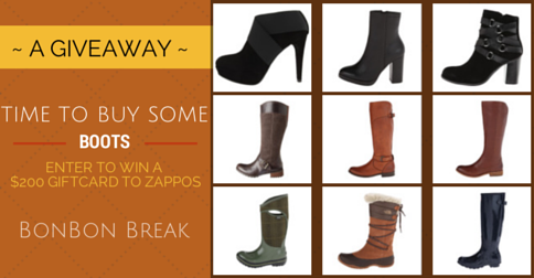 Get Your Boots On! $200 Zappos.com giveaway